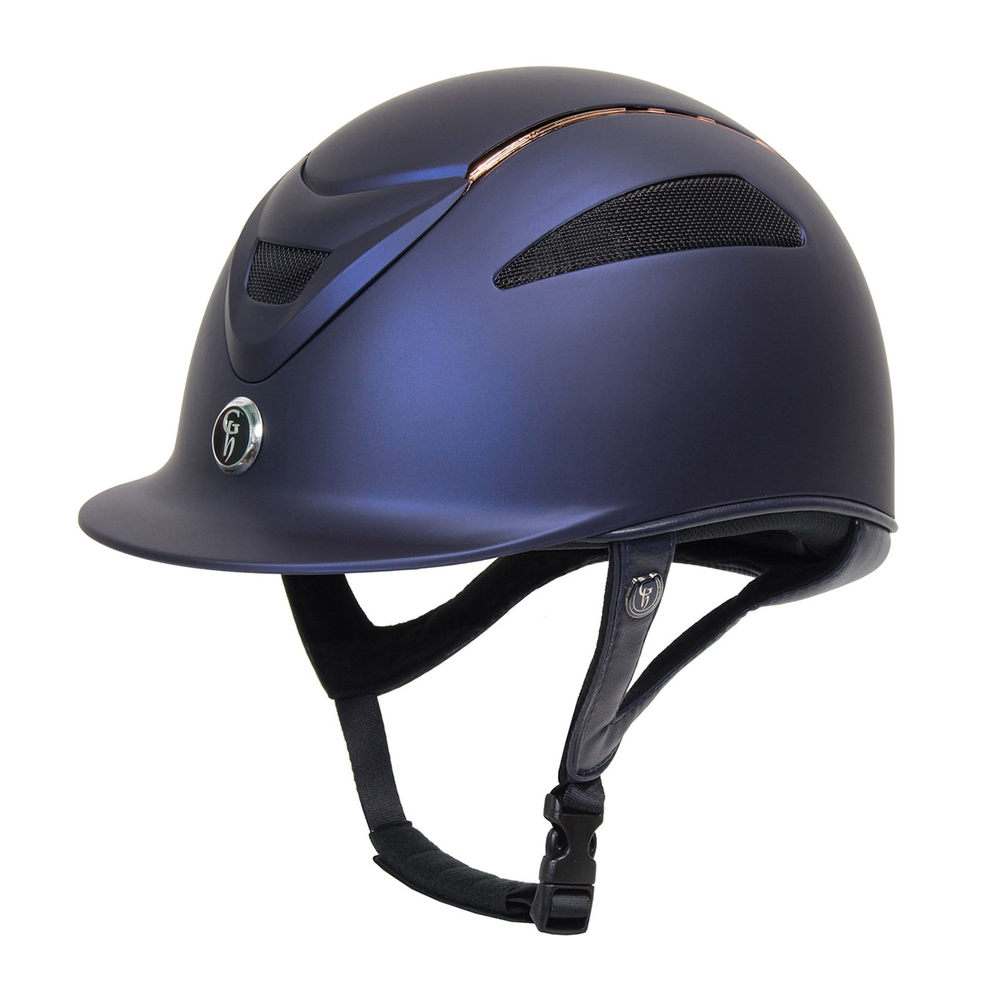 Gatehouse Conquest MKII Riding Hat Rose Gold Navy GAT308002.