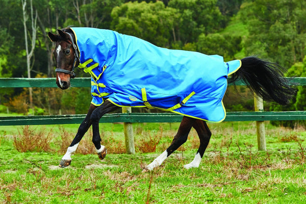 Weatherbeeta Genero 1200D Combo Lite Turnout Rug in Blue and Lime 591992