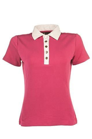 HKM Gloockler Golden Crown Polo Shirt - XS / Pink | EQUUS