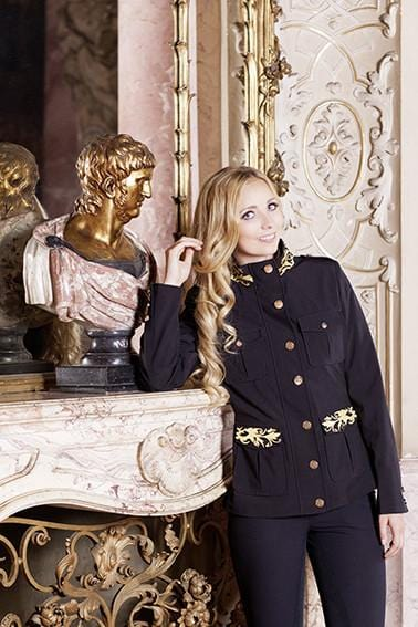 Gloockler Golden Ornament Softshell Jacket in Black
