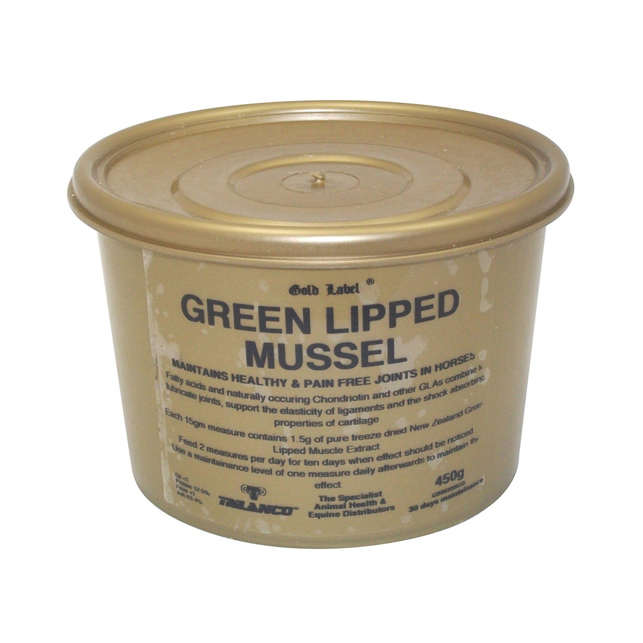 Gold Label Green Lipped Mussel 450G GLD0385