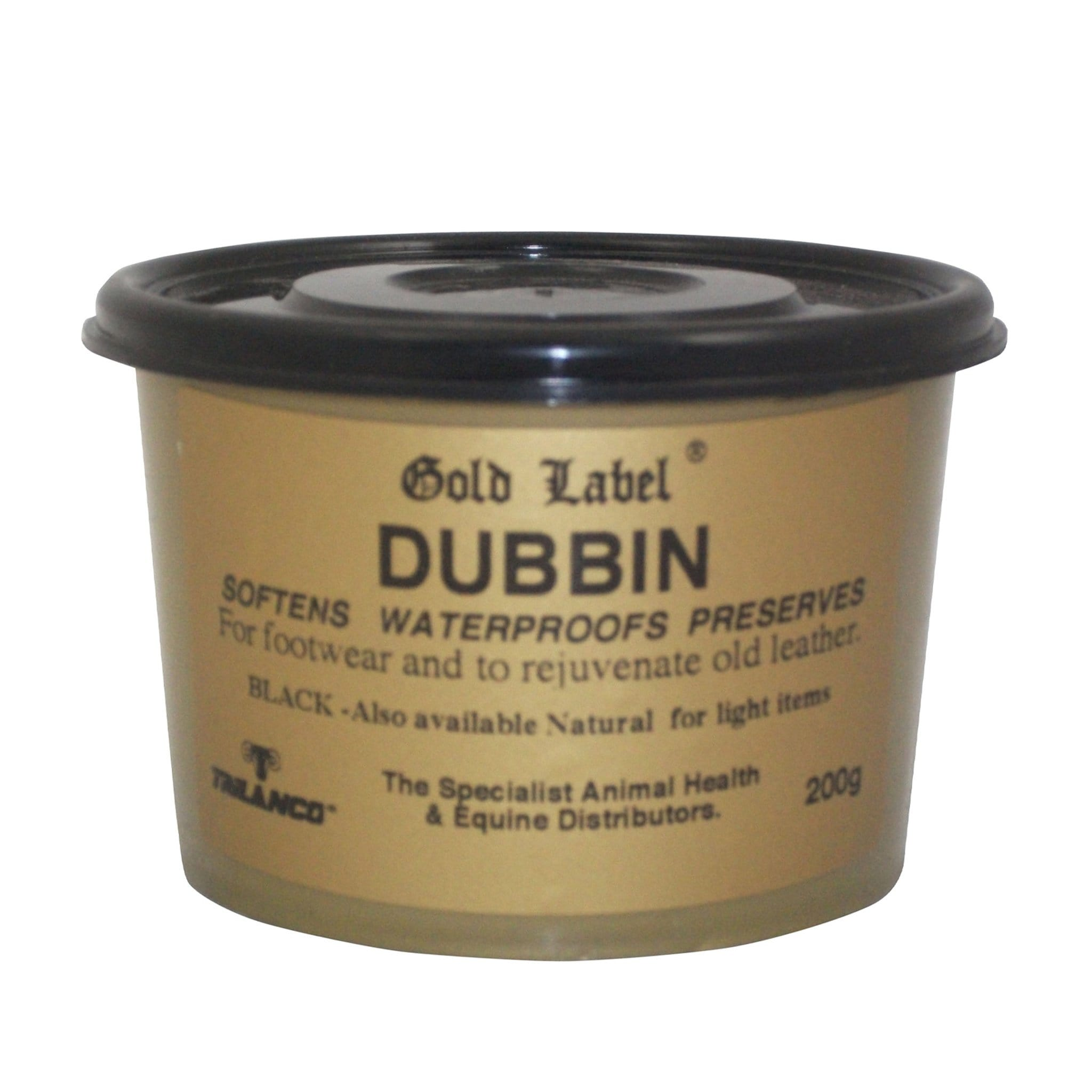 Gold Label Dubbin Black 200g