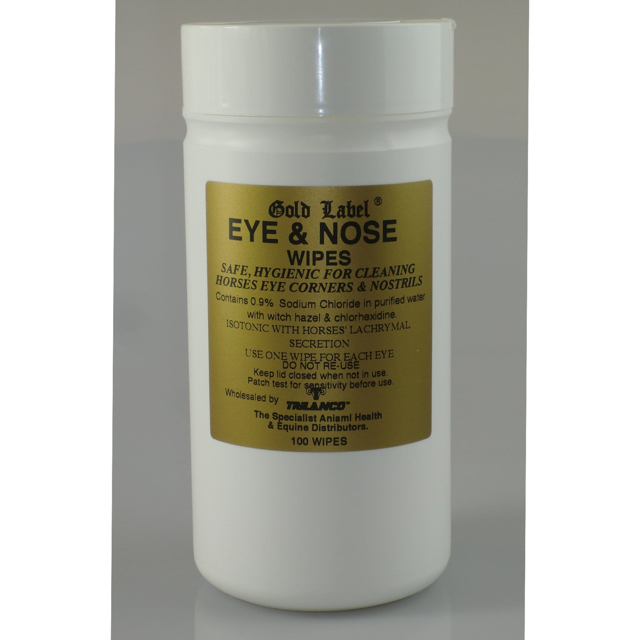 Gold Label Eye and Nose Wipes 100 pack GLD0152