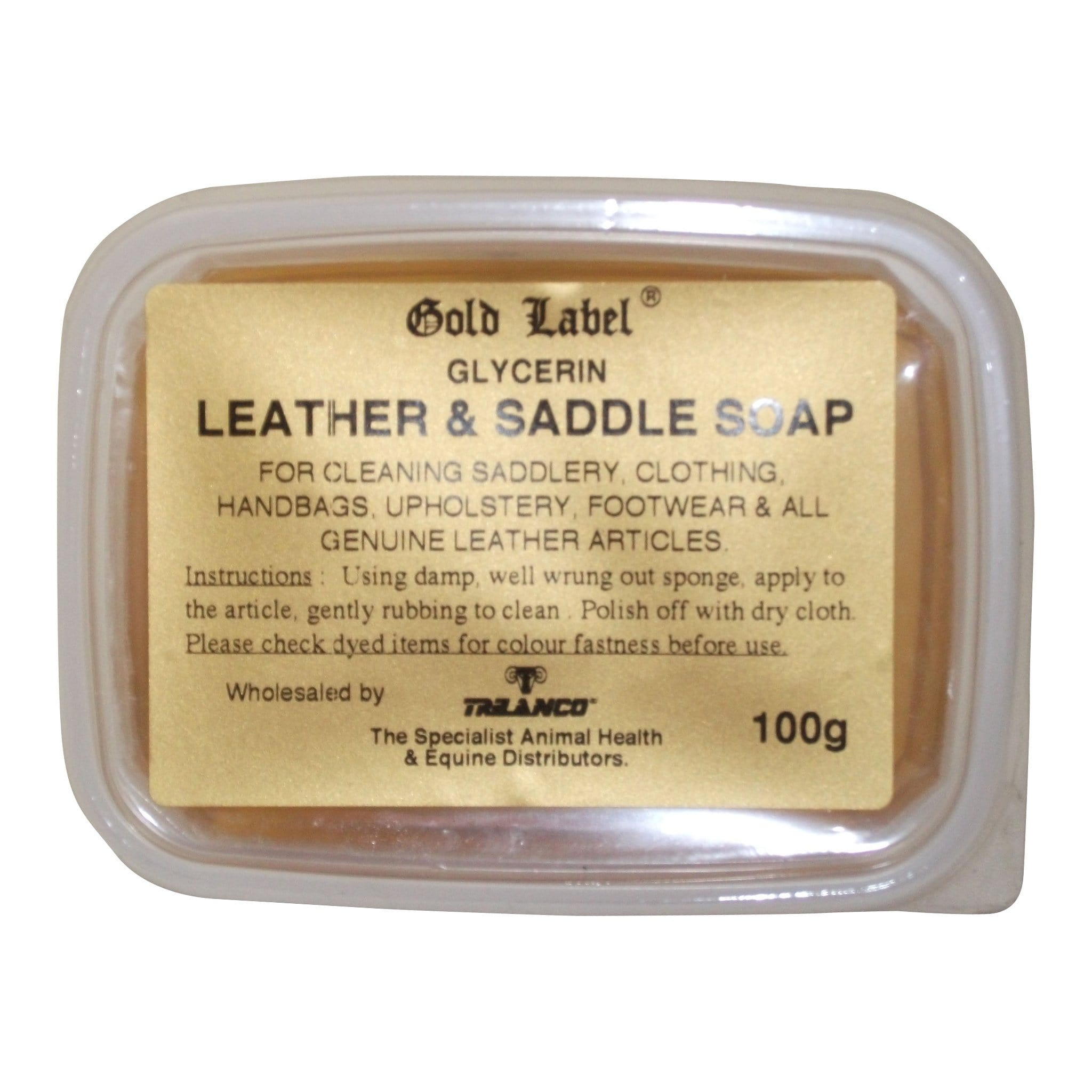 Gold Label Glycerin Leather & Saddle Soap 100g GLD0284