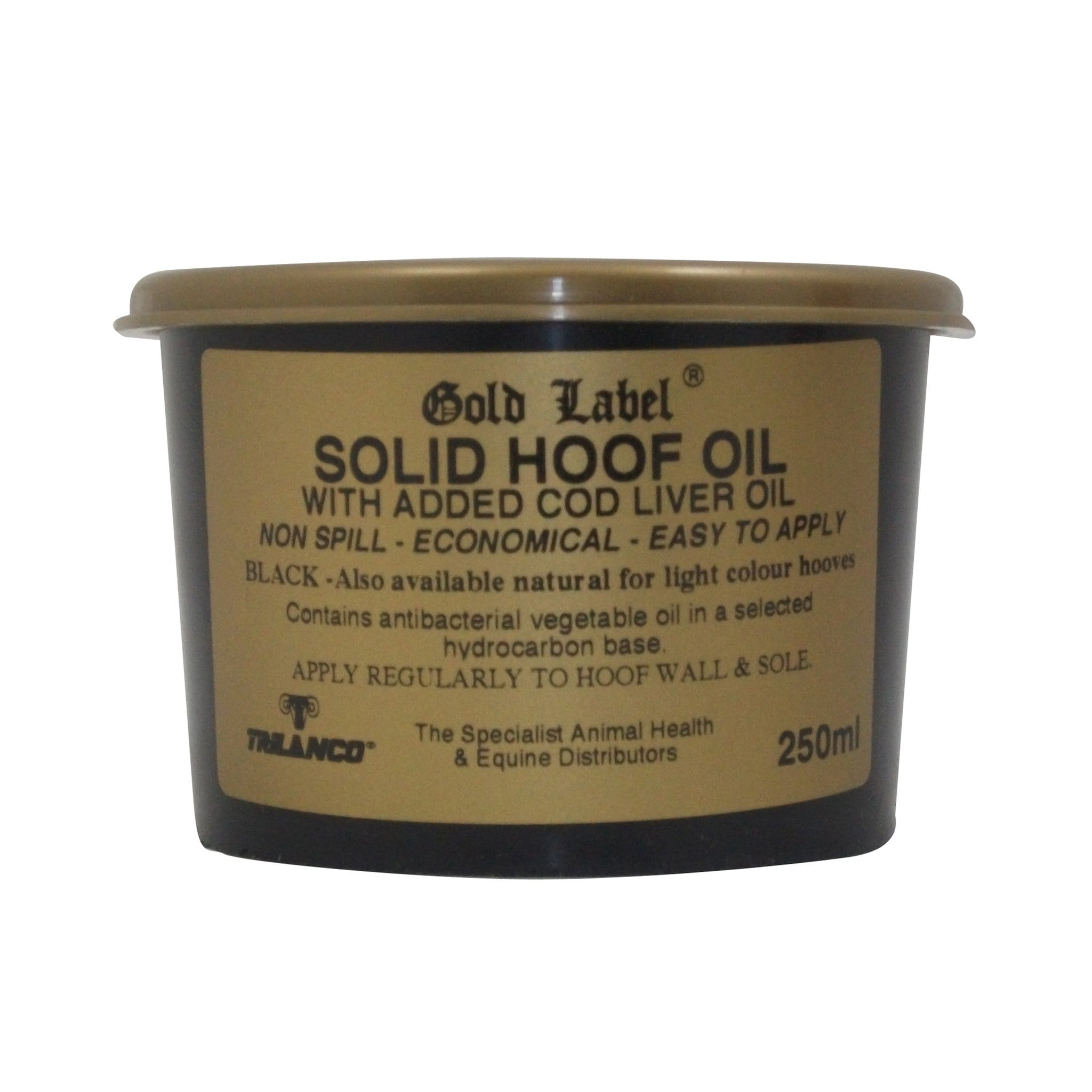 Gold Label Solid Hoof Oil 250ml Black GLD0106