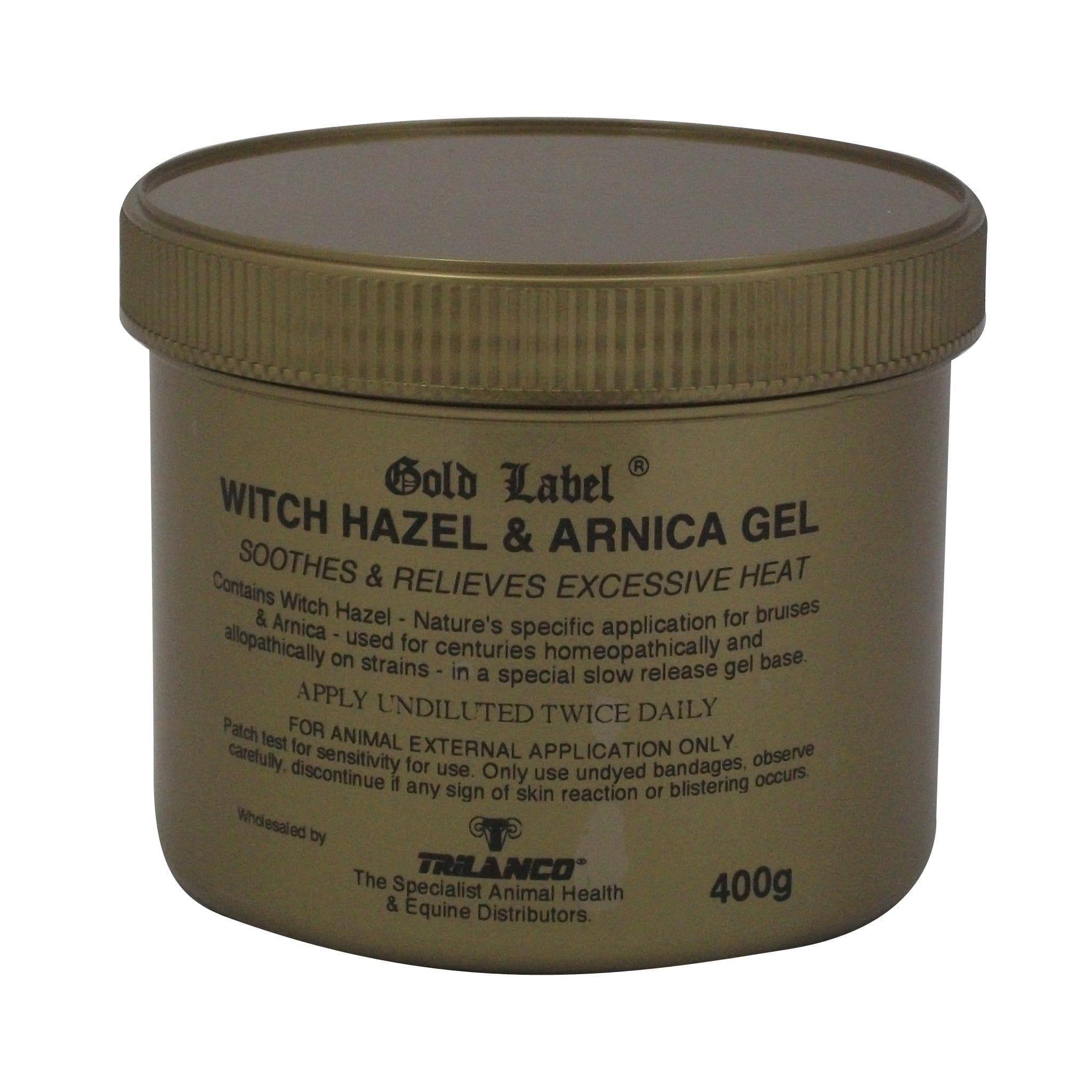 Gold Label Witch Hazel and Arnica Gel 400g GLD0140