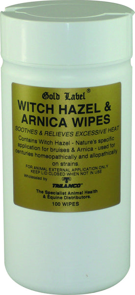 Gold Label Witch Hazel and Arnica Wipes 100 pack GLD0146