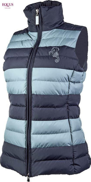 Cavallino Marino Atlantis Sporty Quilt Vest in Dark Blue Front View