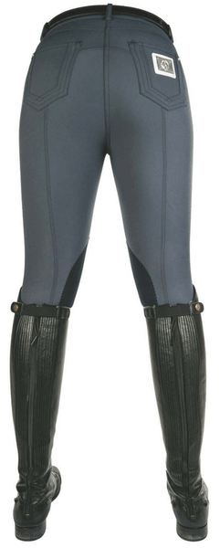 HKM Cavallino Marino Seaside Crystal Knee Patch Breeches Rear View