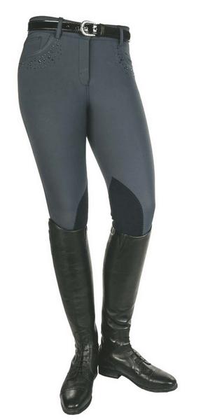 HKM Cavallino Marino Seaside Crystal Knee Patch Breeches Side View