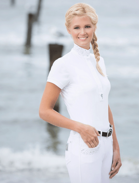 HKM Cavallino Marino Seaside Ladies Competition Shirt worn by Rider
