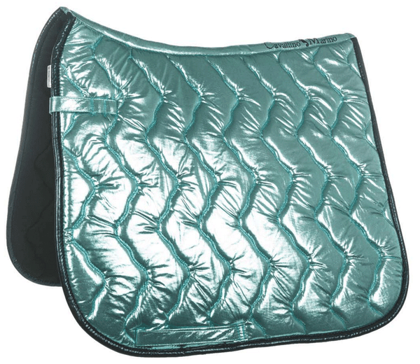 HKM Cavallino Marino Seaside Metallic Saddle Cloth - GP / Azure | EQUUS