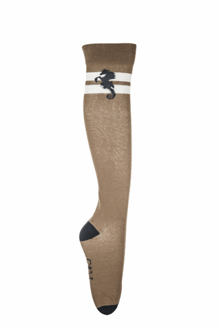 HKM Cavallino Marino Seaside Wave Riding Socks with Stripes - 35-38 / Sand | EQUUS