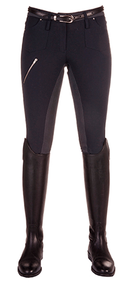 HKM Pro Team Country Life Young Three Quarter Seat Breeches in Deep Blue