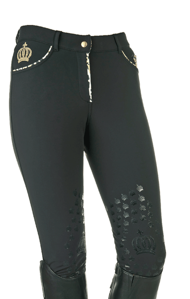 Gloockler Animal Print Silicone Knee Patch Breeches - 24 (6) | EQUUS