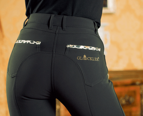 Gloockler Animal Print Silicone Knee Patch Breeches - EQUUS