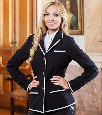 HKM Gloockler Silver Crown Competition Jacket - EQUUS
