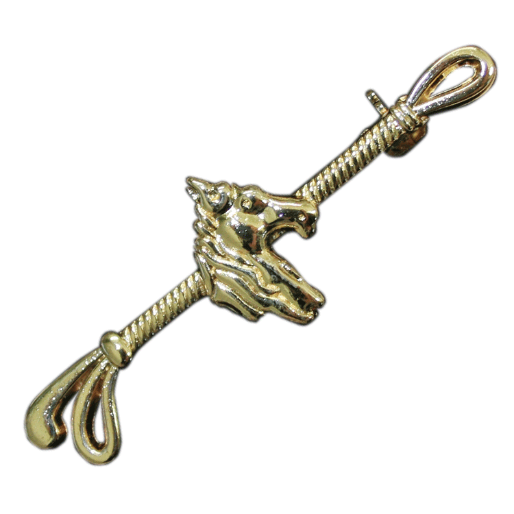 HKM Gold Horse's Head Stock Pin