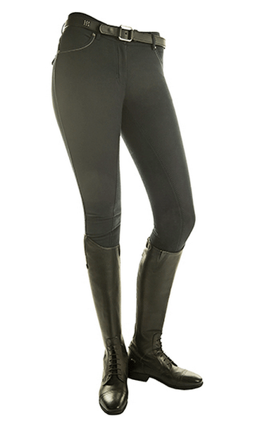 HKM Pro Team Helsinki Three Quarter Seat Breeches in Deep Blue Front View