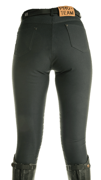 HKM Pro Team Helsinki Silicone Knee Patch Breeches Rear View