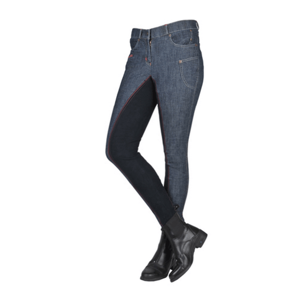 HKM Jacky Full Seat Denim Breeches Front View