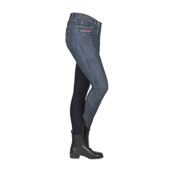 HKM Jacky Full Seat Denim Breeches Side View