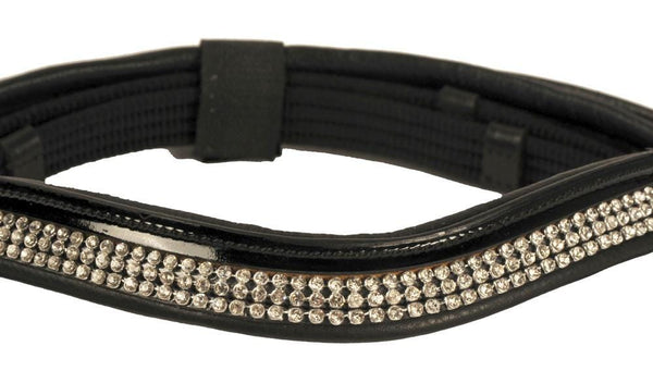 HKM Patent Leather Bridle With Diamante Browband