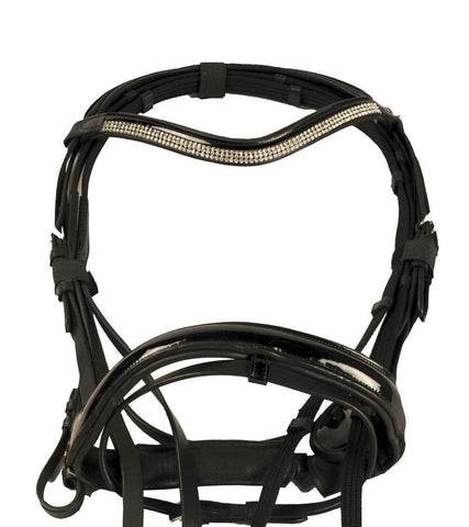 HKM Patent Leather Bridle With Diamante Browband - EQUUS