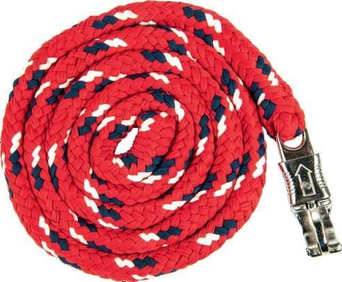 HKM Pro Team Boston Lead Rope in Dark Red with Safety Clip