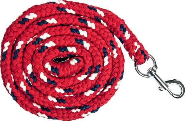HKM Pro Team Boston Lead Rope in Dark Red with Snap Clip
