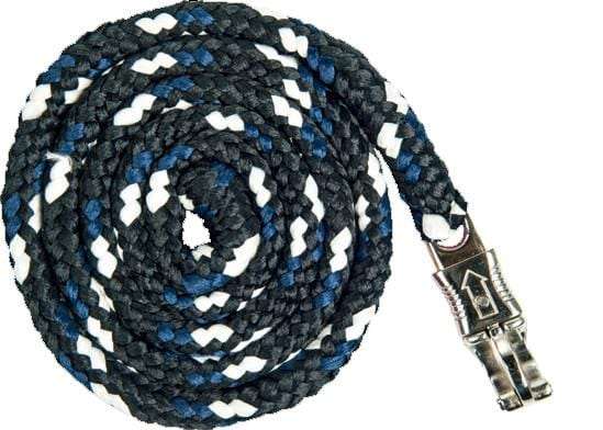 HKM Pro Team Boston Lead Rope in Deep Blue with Safety Clip