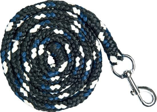 HKM Pro Team Boston Lead Rope in Deep Blue with Snap Clip
