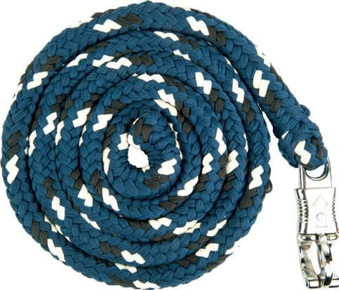 HKM Pro Team Boston Lead Rope in Middle Blue with Safety Clip