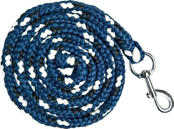 HKM Pro Team Boston Lead Rope in Middle Blue with Snap Clip