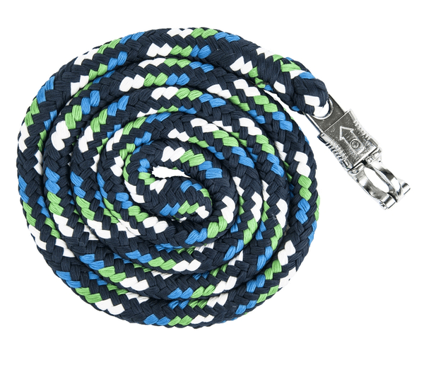 HKM Pro Team Global Team Lead Rope with Safety Clip in Deep Blue