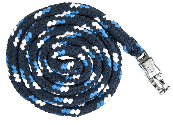 HKM Pro Team Global Team Lead Rope with Safety Clip in Corn Blue