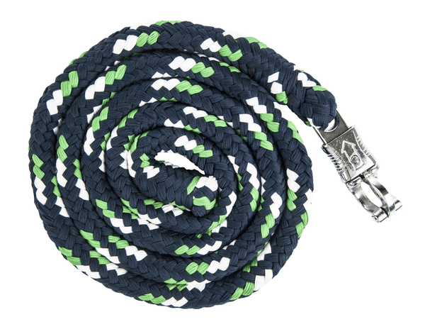HKM Pro Team Global Team Lead Rope with Safety Clip in Grass Green
