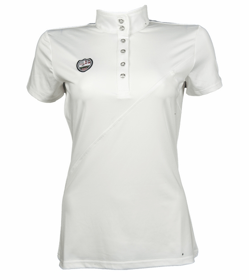 HKM Pro Team Global Team Short Sleeved Competition Shirt in White