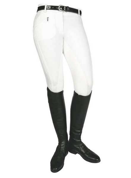 HKM Pro Team Global Team Sporty Three Quarter Seat Breeches in White
