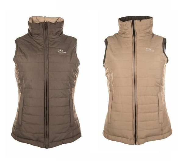 HKM Reversible Gilet in Beige and Brown