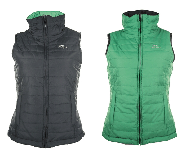 HKM Reversible Gilet in Green and Navy