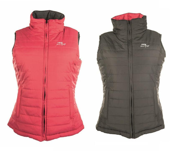 HKM Reversible Gilet in Pink and Grey