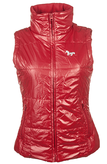 HKM Super Fit Riding Gilet in Red