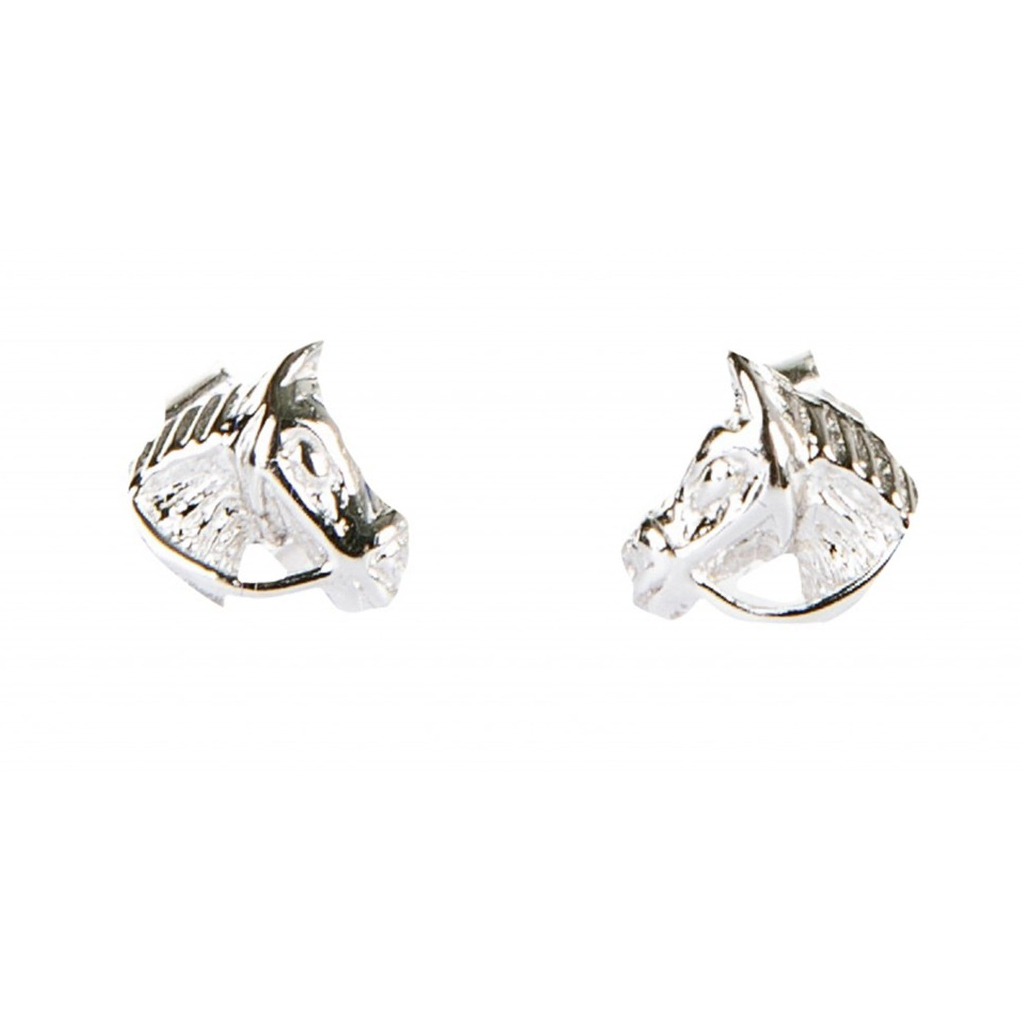 HKM Stirling Silver Horse Head Earrings 6081