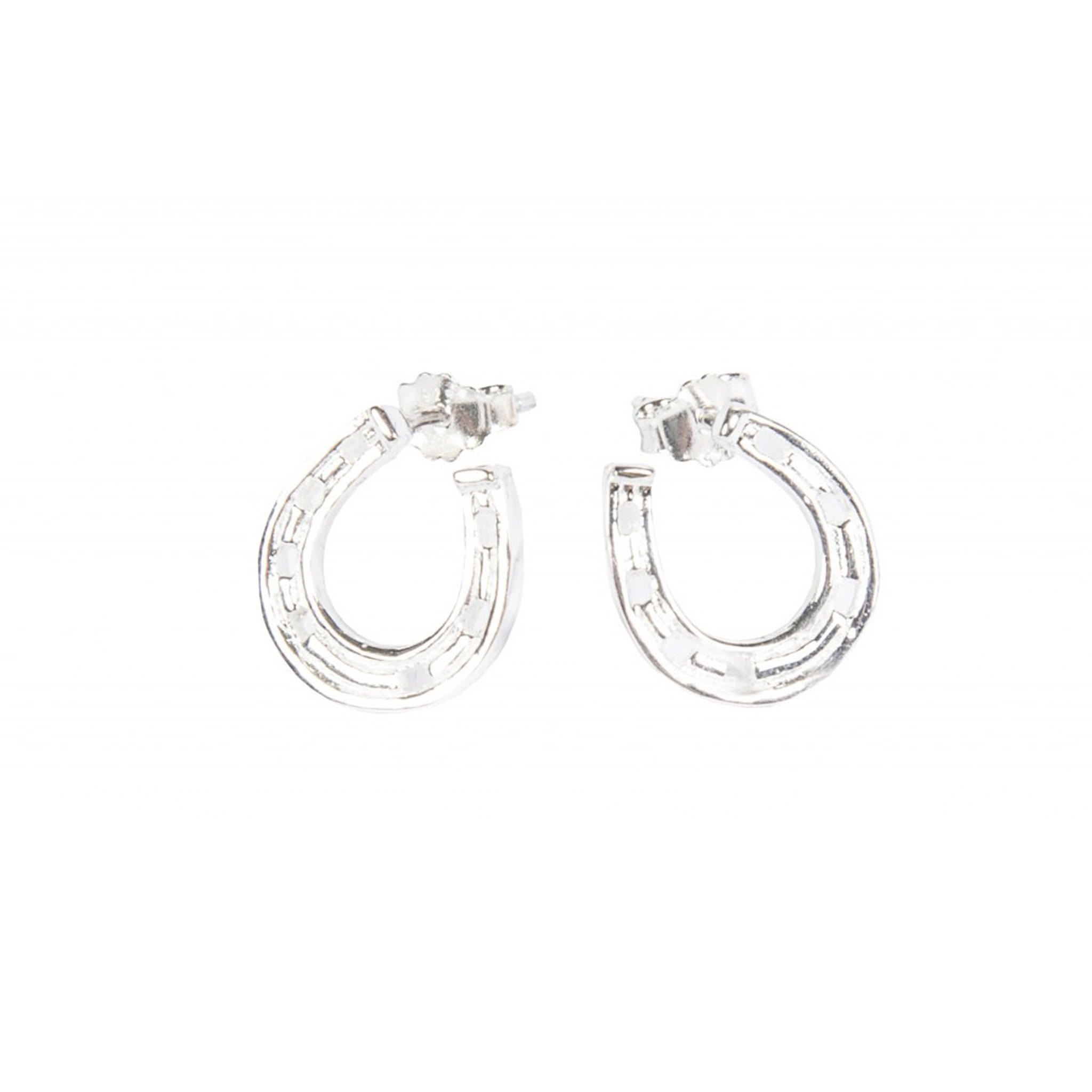 HKM Stirling Silver Horseshoe Earrings