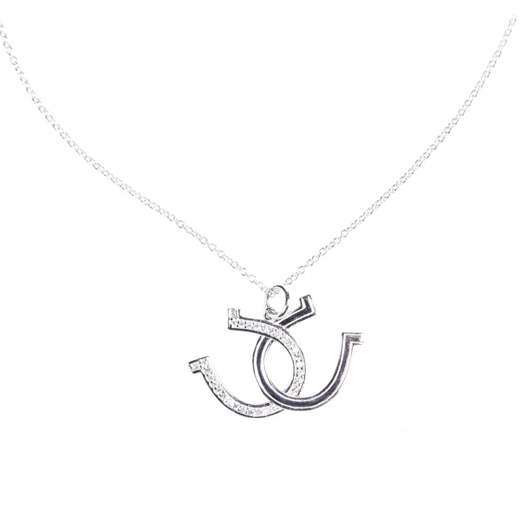 HKM Stirling Silver Horseshoe Necklace