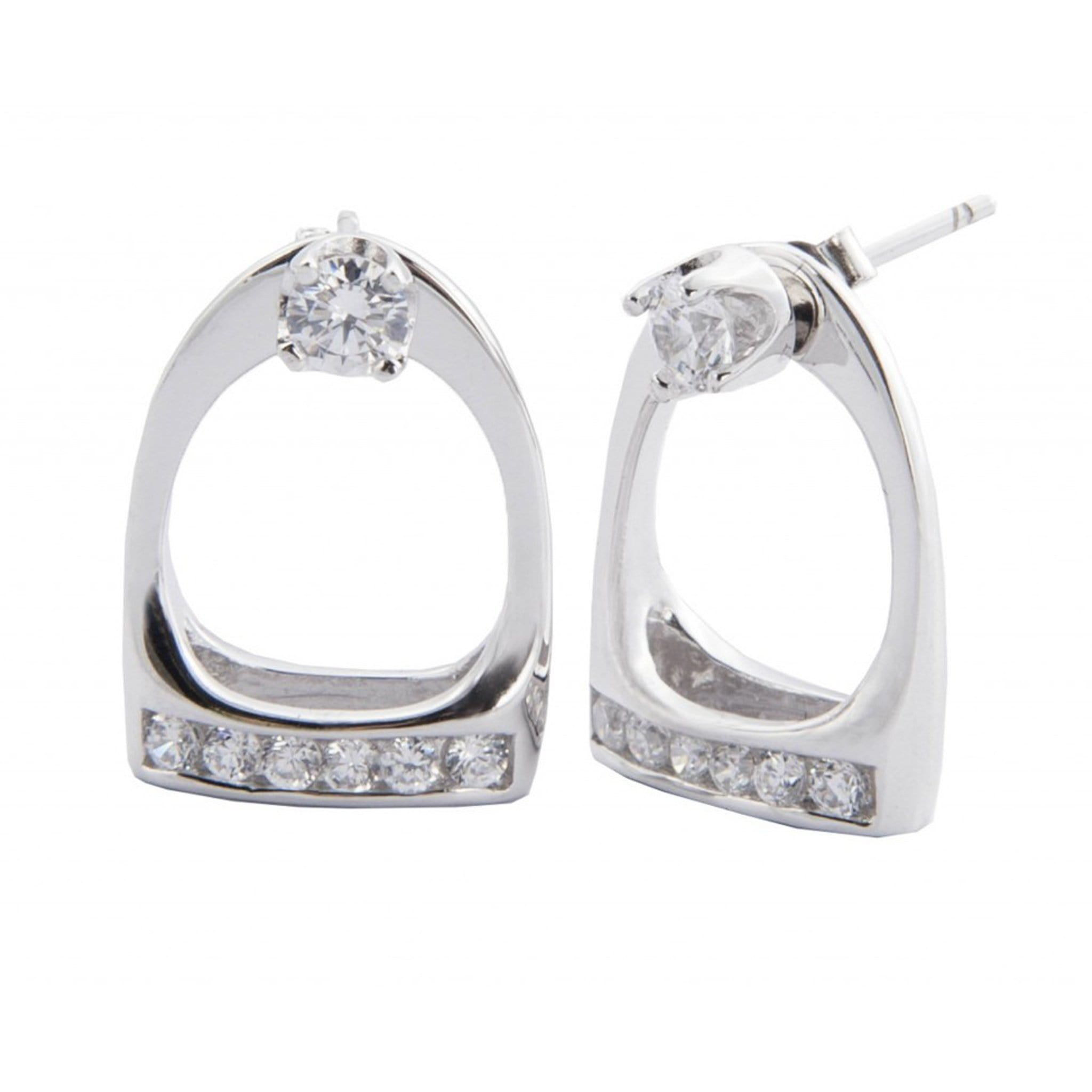HKM Stirrup Crystal Earrings 5803