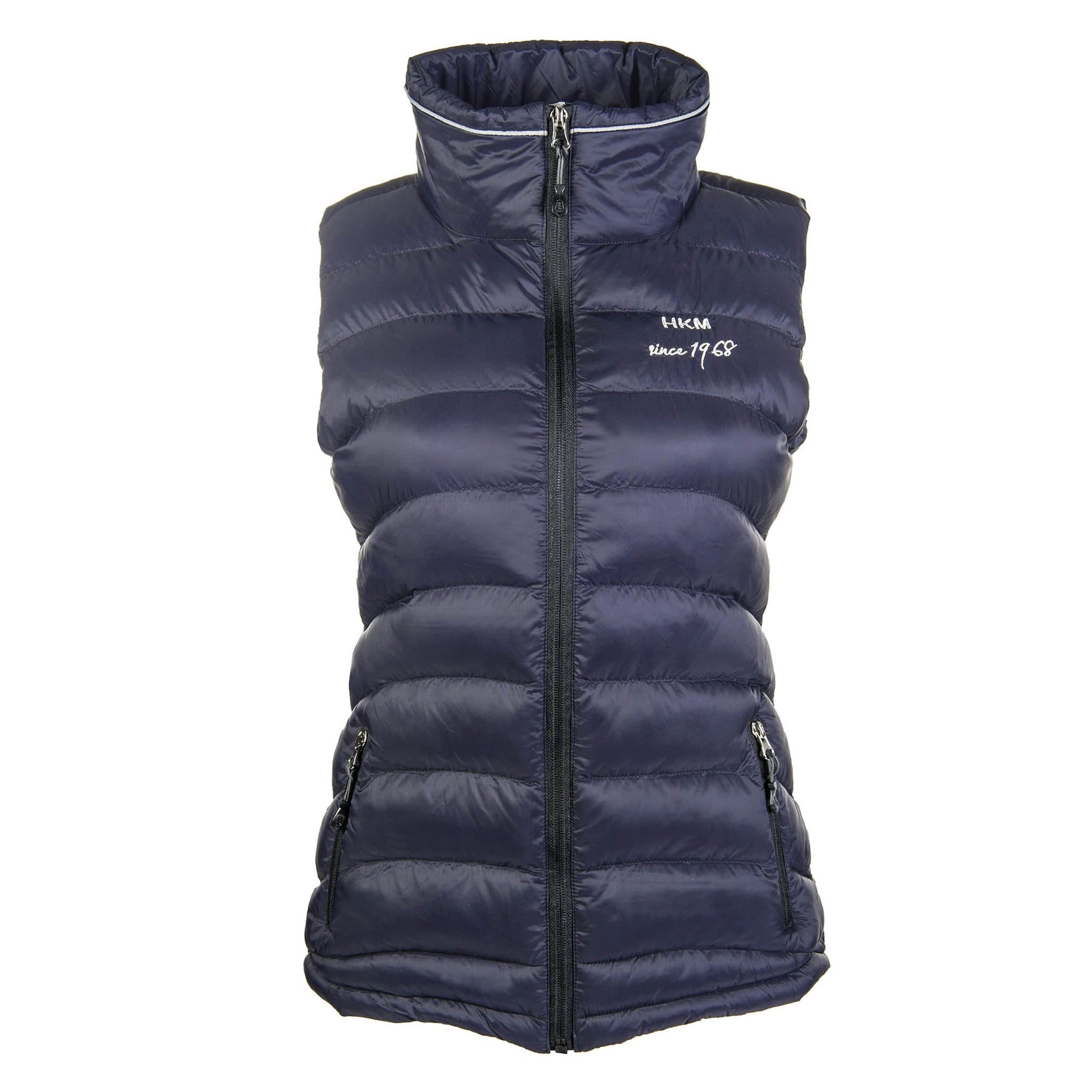 HKM Extra Light Riding Waistcoat 8180 Navy Front