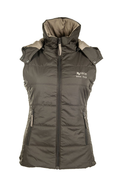 HKM Augsburg Riding Vest - XS / Brown | EQUUS