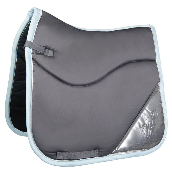 HKM Cavallino Marino Rimini Contrast Saddle Cloth in Dark Grey 9139